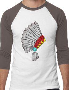 Indian Headdress Men's Baseball ¾ T-Shirt
