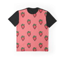 Fruit Punch! Strawberry Repeating Print Graphic T-Shirt