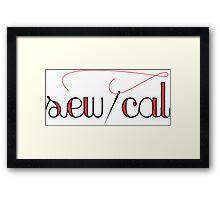 SewCal SoCal - Needle and Thread Framed Print