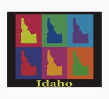 Colorful Idaho State Pop Art Map Kids Clothes