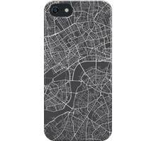 London Map, England - Gray iPhone Case/Skin