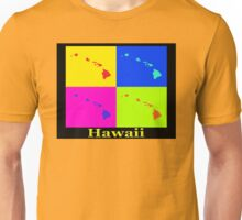 Colorful Hawaii State Pop Art Map Unisex T-Shirt