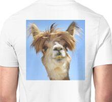 Alpaca with Crazy Hair Unisex T-Shirt