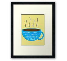 Gimme Coffee  Framed Print