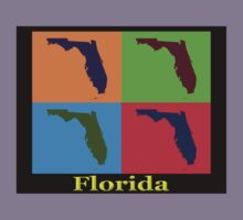 Colorful Florida State Pop Art Map Kids Tee