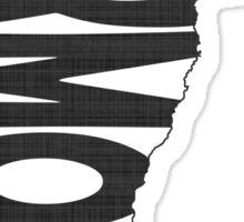 Vermont State Word Art Sticker