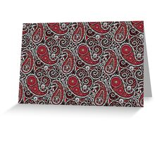 Pushie Paisley Pattern Chrome Greeting Card