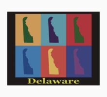 Colorful Delaware State Pop Art Map Kids Clothes