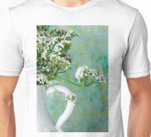 White Valarian Flowers Still Life  Unisex T-Shirt