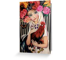 """Lady Spring"" Greeting Card"