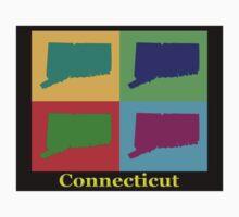 Colorful Connecticut State Pop Art Map Kids Clothes