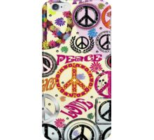 Flower Power Peace And Love Hippie  iPhone Case/Skin