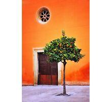 Orange Chapel Photographic Print