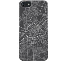 Manchester Map, England - Gray iPhone Case/Skin