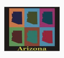 Colorful Arizona Stat Pop Art Map Kids Clothes