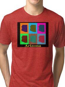 Colorful Arizona Stat Pop Art Map Tri-blend T-Shirt