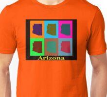 Colorful Arizona Stat Pop Art Map Unisex T-Shirt