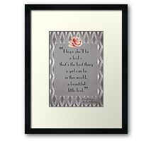 Great Gatsby Illustrated Quote Framed Print