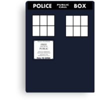 Tardis Door (Version 2) Canvas Print