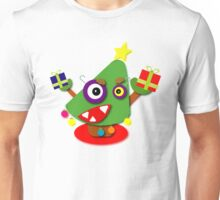 Green Kawaii Cartoon Christmas Tree Unisex T-Shirt