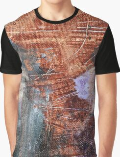 Abstract Paint Blotches Graphic T-Shirt