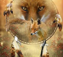 Dream Catcher - Spirit Of The Red Fox by Carol  Cavalaris