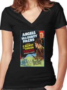 Angels with Dirty Faces Women's Fitted V-Neck T-Shirt