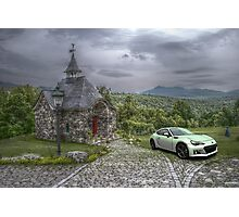 The Chapelle & The Car Photographic Print
