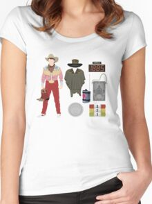 Back to the Future : Time Traveler Essentials 1885 Women's Fitted Scoop T-Shirt