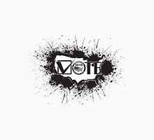 Vote 2016 USA Map Ink Splatter Outline Illustration Unisex T-Shirt