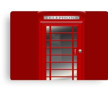 London Red Phone Booth Box  Canvas Print