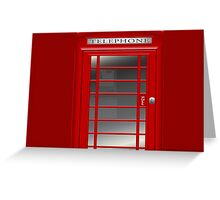 London Red Phone Phone Booth Box  Greeting Card