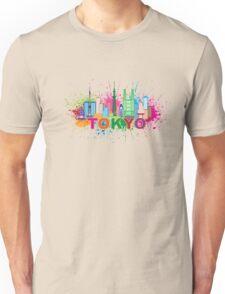 Tokyo City Skyline Paint Splatter Illustration Unisex T-Shirt