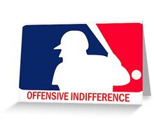 Offensive Indifference: Baseball Lexicon Greeting Card