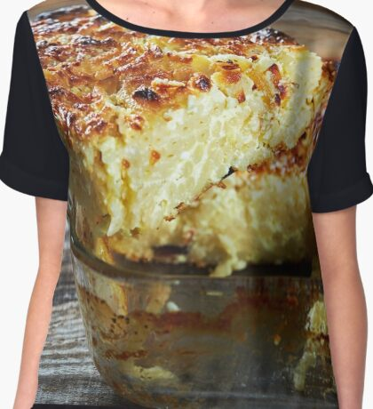 Macaroni with cheese, oven baked Chiffon Top