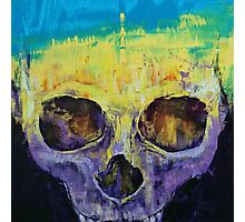 Grunge Skull Photographic Print