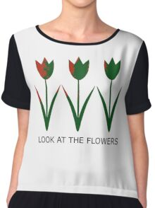 Look at the Flowers Chiffon Top