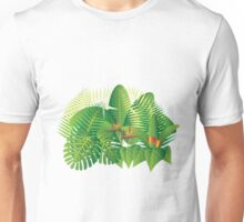 Tropical Jungle Plants Illustration Unisex T-Shirt