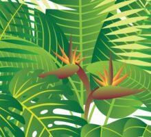 Tropical Jungle Plants Illustration Sticker