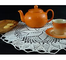 Orange Tea Time Photographic Print