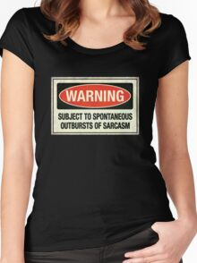 Subject to sarcasm Women's Fitted Scoop T-Shirt