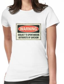 Subject to sarcasm Womens Fitted T-Shirt