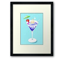 Polar Bear in Cocktail Framed Print