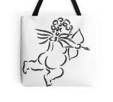 Cupid with Bow and Arrow Ink Brush Illustration Tote Bag