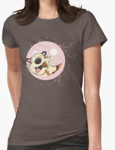 hobbes eat on baloon Womens Fitted T-Shirt