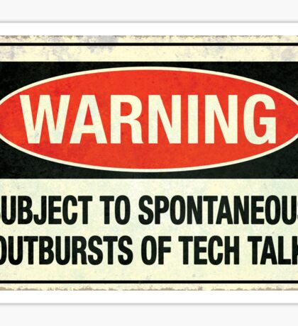 Subject to tech talk Sticker