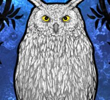 Art Nouveau Owl Sticker