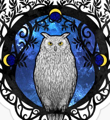 Art Nouveau Owl Sticker