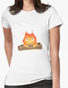 Comfy Calcifer Womens Fitted T-Shirt