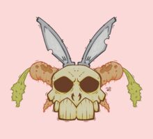 Old Rabbit Skull Baby Tee